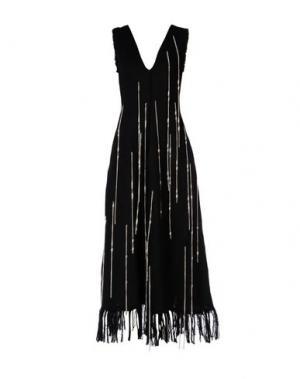 Длинное платье MSGM. Цвет: черный