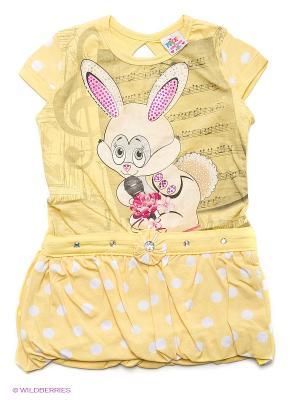 Платье Tocka. Цвет: желтый