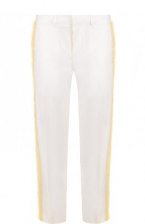 Укороченные брюки с декоративной отделкой Dsquared2. Цвет: белый