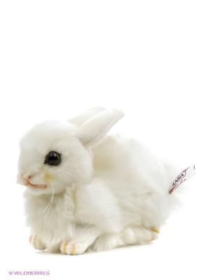 Заяц Зайчонок 17 см Hansa. Цвет: белый