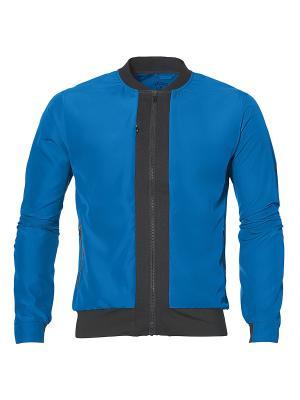 Куртка бомбер fuzeX BOMBER JACKET ASICS. Цвет: голубой