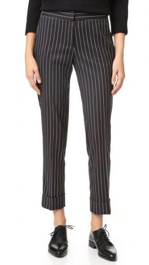 Брюки с напуском и манжетами James Jeans. Цвет: черный в полоску