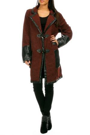 Пальто Pomme rouge. Цвет: коричневый