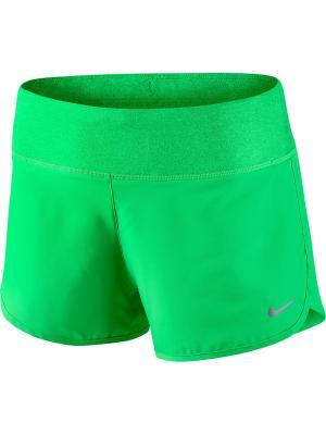 Шорты W NK FLX SHORT 3IN RIVAL Nike. Цвет: зеленый