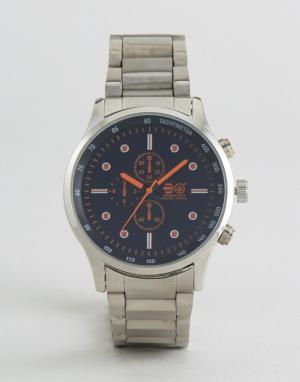 Crosshatch Часы с декоративными дополнительными циферблатами. Цвет: серебряный
