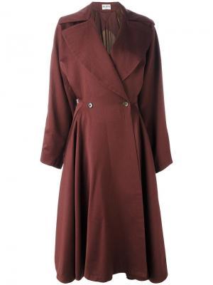 Расклешенное пальто Alaïa Vintage. Цвет: коричневый
