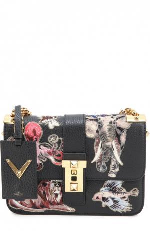 Сумка B-Rockstud с аппликациями и вышивкой Valentino. Цвет: черный