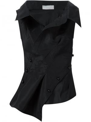 Стилизованный топ-рубашка Monse. Цвет: чёрный