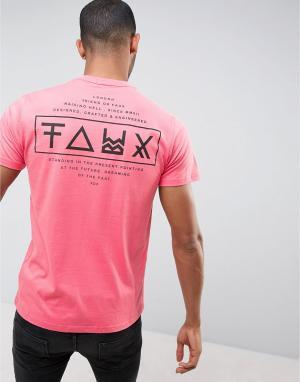 Friend or Faux Футболка с принтом на спине Limitless. Цвет: розовый