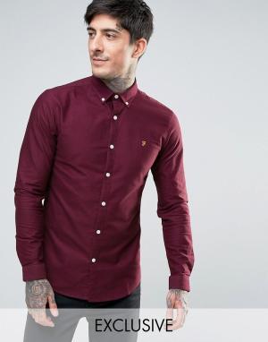 Farah Красная оксфордская рубашка скинни эксклюзивно для. Цвет: красный