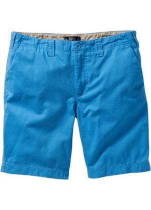 Бермуды чино Regular Fit (синий) bonprix. Цвет: синий