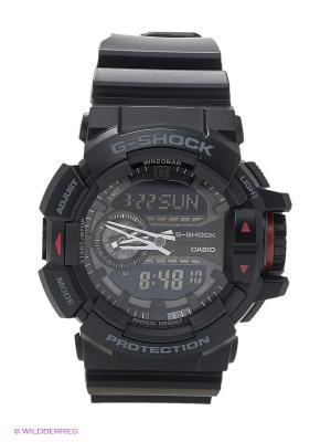 Часы G-SHOCK GA-400-1B CASIO. Цвет: черный