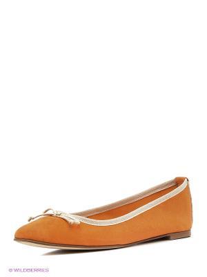 Балетки GANT. Цвет: оранжевый, коралловый, светло-коричневый