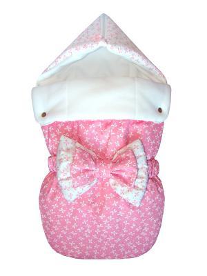 Конверт на выписку JustCute Джульетта Pink (весна) СуперМаМкет. Цвет: белый, розовый