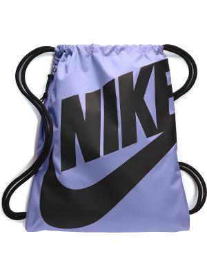 Мешок для обуви NIKE HERITAGE GYMSACK. Цвет: сиреневый, черный
