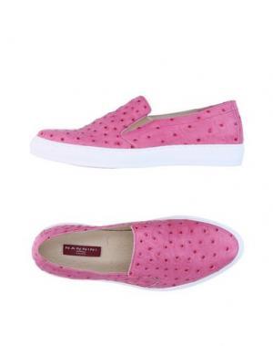 Низкие кеды и кроссовки NANNINI. Цвет: розовый