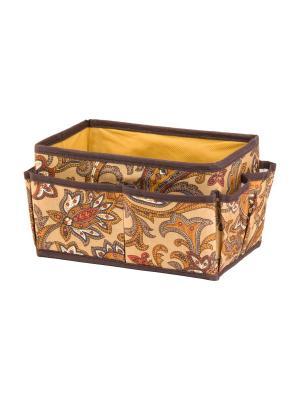 Органайзер для косметики/мелочей Перо павлина EL CASA. Цвет: коричневый, оранжевый