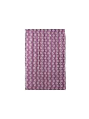 Штора готовая 200x280 см фиолетовая на шторной ленте Energy WESS. Цвет: серый, фиолетовый