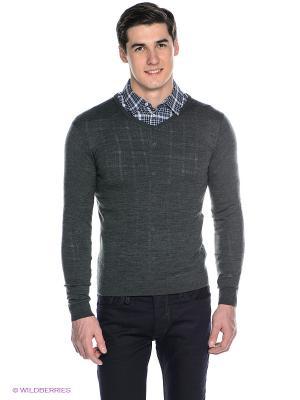 Пуловер SELECTED. Цвет: темно-зеленый