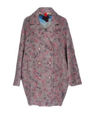 Пальто FEMME by MICHELE ROSSI. Цвет: светло-серый