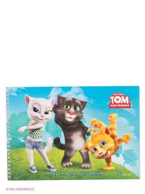 Альбом для рисования Talking Tom and Friends. Веселые коты. 40 листов Канц-Эксмо. Цвет: голубой