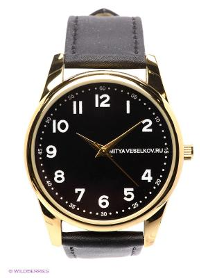 Часы Mitya Veselkov Правильные цифры. Цвет: черный