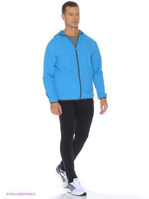 Куртка ATHLETE JACKET ASICS. Цвет: голубой