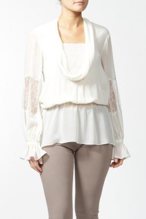 Блуза Luisa Spagnoli. Цвет: белый