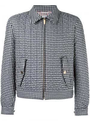 Куртка в клетку Thom Browne. Цвет: синий