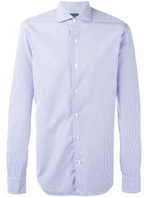 Checked shirt Barba. Цвет: синий