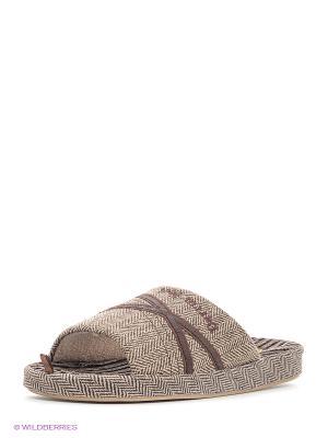 Тапочки Dream Feet. Цвет: коричневый, бежевый