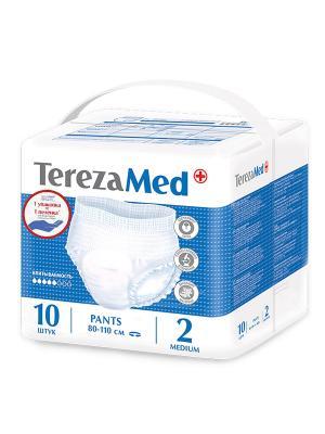Tereza MED  Трусы подгузники для взрос Medium № 2, 10 шт. TerezaMed. Цвет: белый