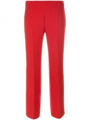 Прямые брюки Agnona. Цвет: красный
