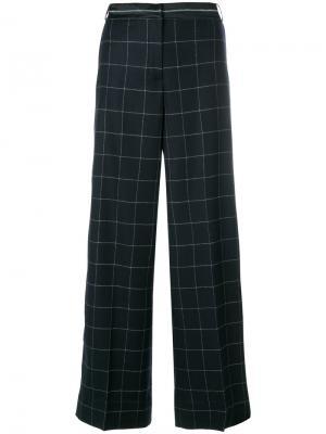 Широкие брюки  с сетчатым принтом Elizabeth And James. Цвет: синий
