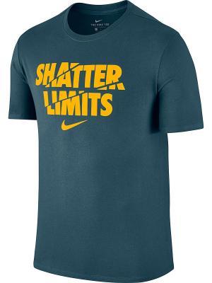 Футболка M NK DRY TEE DF LIMITS Nike. Цвет: синий, оранжевый