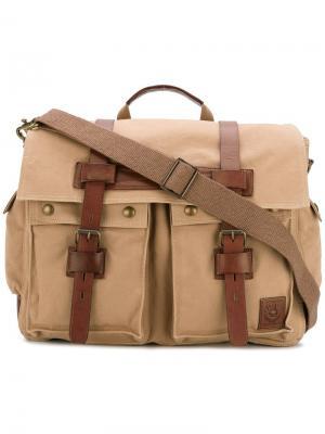 Дорожная сумка с карманами карго Belstaff. Цвет: телесный