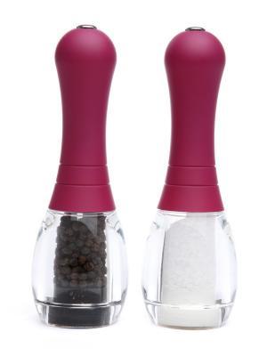 Набор мельниц для соли и перца. Мягкая рукоятка, фиолетовая. David Mason Design. Цвет: фиолетовый