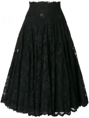 Расклешенная кружевная юбка Olvi´S. Цвет: чёрный