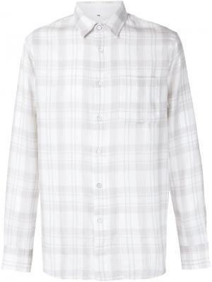 Клетчатая рубашка Rag & Bone. Цвет: серый