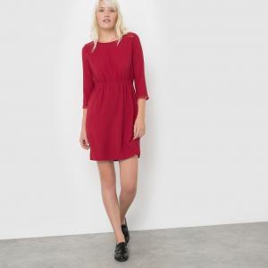 Платье с рукавами 3/4 COCO SUNCOO. Цвет: бордовый