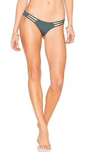 Дерзкие плавки бикини с бретельками Bettinis. Цвет: темно-зеленый