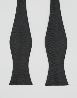 ASOS Черный галстук-бабочка. Цвет: черный