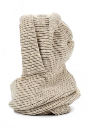 Комплект шапка и снуд Ferz. Цвет: бежевый