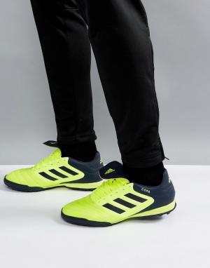 Adidas Желтые футбольные бутсы Copa Tango 17.3 Astro Turf BB6099. Цвет: желтый