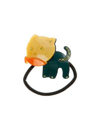 Резинка для волос LITTLE MANIA. Цвет: желтый, оранжевый, черный