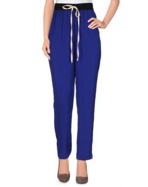 Повседневные брюки INTROPIA. Цвет: темно-синий