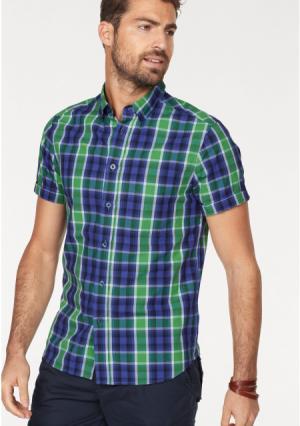 Рубашка Rhode Island. Цвет: синий/зеленый в клетку