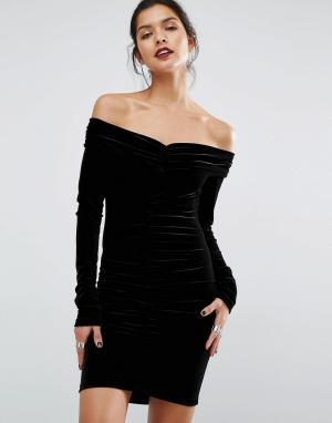 Bec & Bridge Платье мини Midnight Sage. Цвет: черный