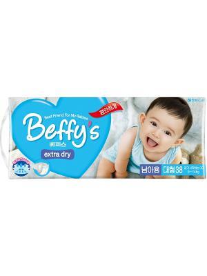 Подгузники Beffys extra dry для мальчиков размер L (9-14 кг.) 38 шт. Beffy's. Цвет: синий