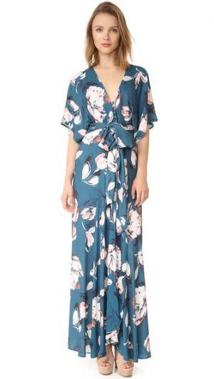 Макси-платье в стиле кимоно Yumi Kim. Цвет: розовая маргаритка